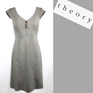 Anthropologie Theory Pinstripe Dress Gray Size 10